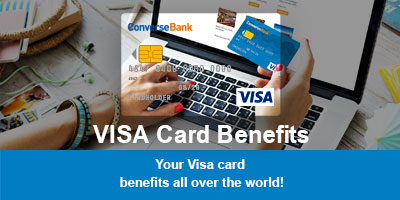Take advantage of VISA card benefits worldwide