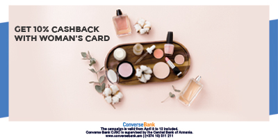 Pay with Woman's card get 10% CashBack