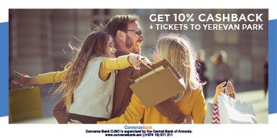 Get 10% Cashback + Tickets to Yerevan Park
