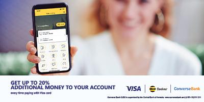 Специальное предложение для держателей карт Visa Конверс Банка